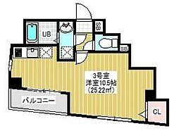 BRIGHT FUTURE東大島 4階1Kの間取り