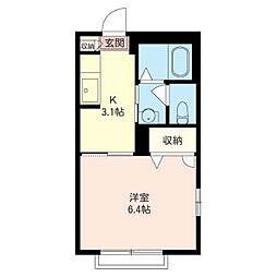 ホッホハウス[1階]の間取り