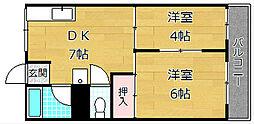 マンション香楽[4階]の間取り