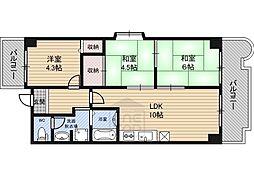 メゾン・ド・ソレイユ 5階3LDKの間取り