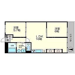 今井マンション[2階]の間取り