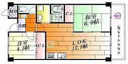 ステーションハイツ千里丘[3階]の間取り