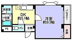 メゾンドオーブ2[1階]の間取り