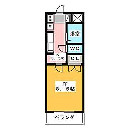 モンレーヴ三方原[2階]の間取り