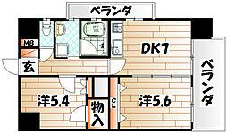 デザイナープリンセス中津口[13階]の間取り