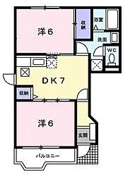 グレイスフルハイムヤマモト[2階]の間取り
