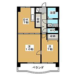 アークハイツ鹿田[8階]の間取り