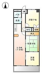 愛知県名古屋市天白区梅が丘5丁目の賃貸マンションの間取り