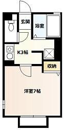パル平塚[103号室]の間取り