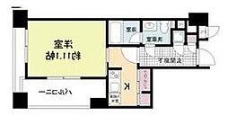 レジディア江坂 8階1Kの間取り