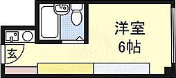 ステュディオ新大阪 8階ワンルームの間取り