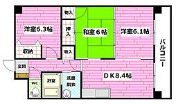 メイゾン高津屋[2階]の間取り