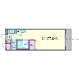 クリークサイドマンション A棟[3階]の間取り