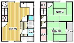 [テラスハウス] 兵庫県尼崎市武庫元町1丁目 の賃貸【/】の間取り