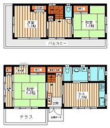 [一戸建] 千葉県柏市布施新町4丁目 の賃貸【/】の間取り