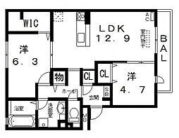 仮)D-room高美町[205号室号室]の間取り