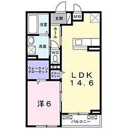 JR内房線 長浦駅 徒歩15分の賃貸アパート 2階1LDKの間取り