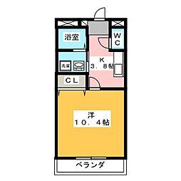 成和第6ビル[3階]の間取り