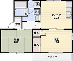 ファミール樋ノ口B棟[201号室]の間取り