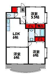 第23川崎ビル[506号室]の間取り