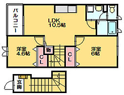 ファミール須恵[2階]の間取り