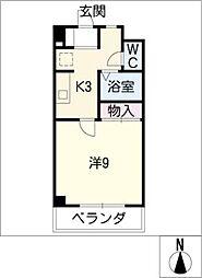 アメニティ松風[1階]の間取り