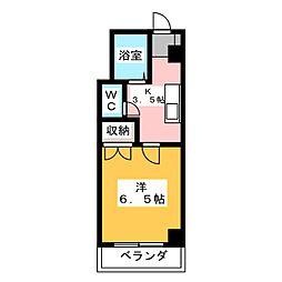 ホリホックイン元浜[5階]の間取り