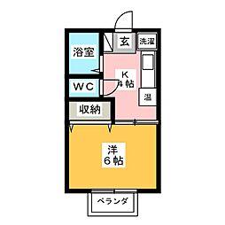 ロイヤル上水戸[2階]の間取り