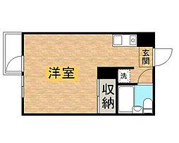 東京都多摩市鶴牧2丁目の賃貸アパートの間取り