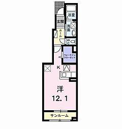ラヴィアンローズ A[1階]の間取り