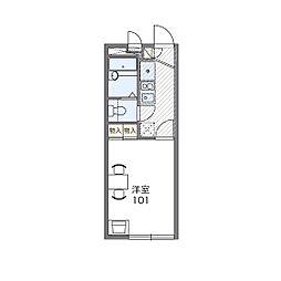レオパレスNAGANUMA[1階]の間取り