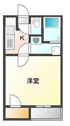 JR山陽本線 瀬戸駅 徒歩36分の賃貸アパート 2階1Kの間取り