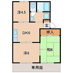 セジュール平柳[2階]の間取り