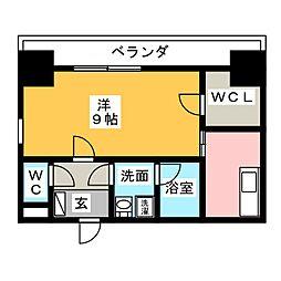 愛知県一宮市新生2丁目の賃貸マンションの間取り