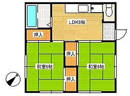 [一戸建] 千葉県船橋市藤原3丁目 の賃貸【/】の間取り