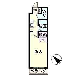 滋賀県草津市追分8丁目の賃貸マンションの間取り