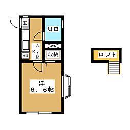 サンフラッツII[2階]の間取り