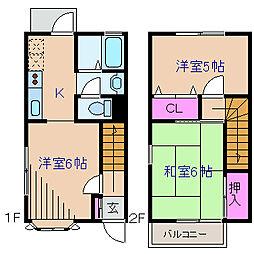 [テラスハウス] 神奈川県横浜市港北区岸根町 の賃貸【/】の間取り