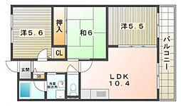 エスポワール池田[3階]の間取り