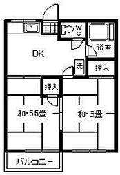 ファミーユ橋本2[2階]の間取り