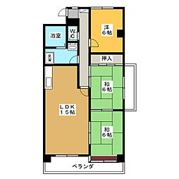 シェラトンINAMI[2階]の間取り