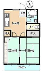 オクトピア東八幡[202号室]の間取り