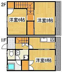 KCハイツ A棟[2階]の間取り
