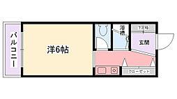 メゾン甲子園イースト[2階]の間取り