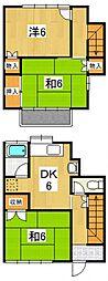 [テラスハウス] 神奈川県小田原市田島 の賃貸【神奈川県 / 小田原市】の間取り