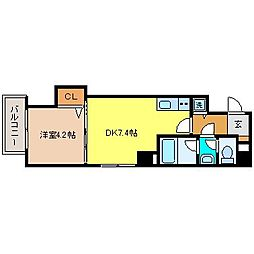 長崎県長崎市魚の町の賃貸マンションの間取り