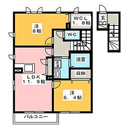 フルハウスII[2階]の間取り