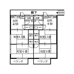 東京都八王子市富士見町の賃貸アパートの間取り