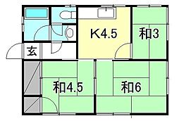 杉ノ内アパート[2 号室号室]の間取り