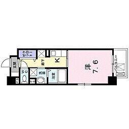 JR東海道・山陽本線 甲子園口駅 徒歩13分の賃貸マンション 3階1Kの間取り